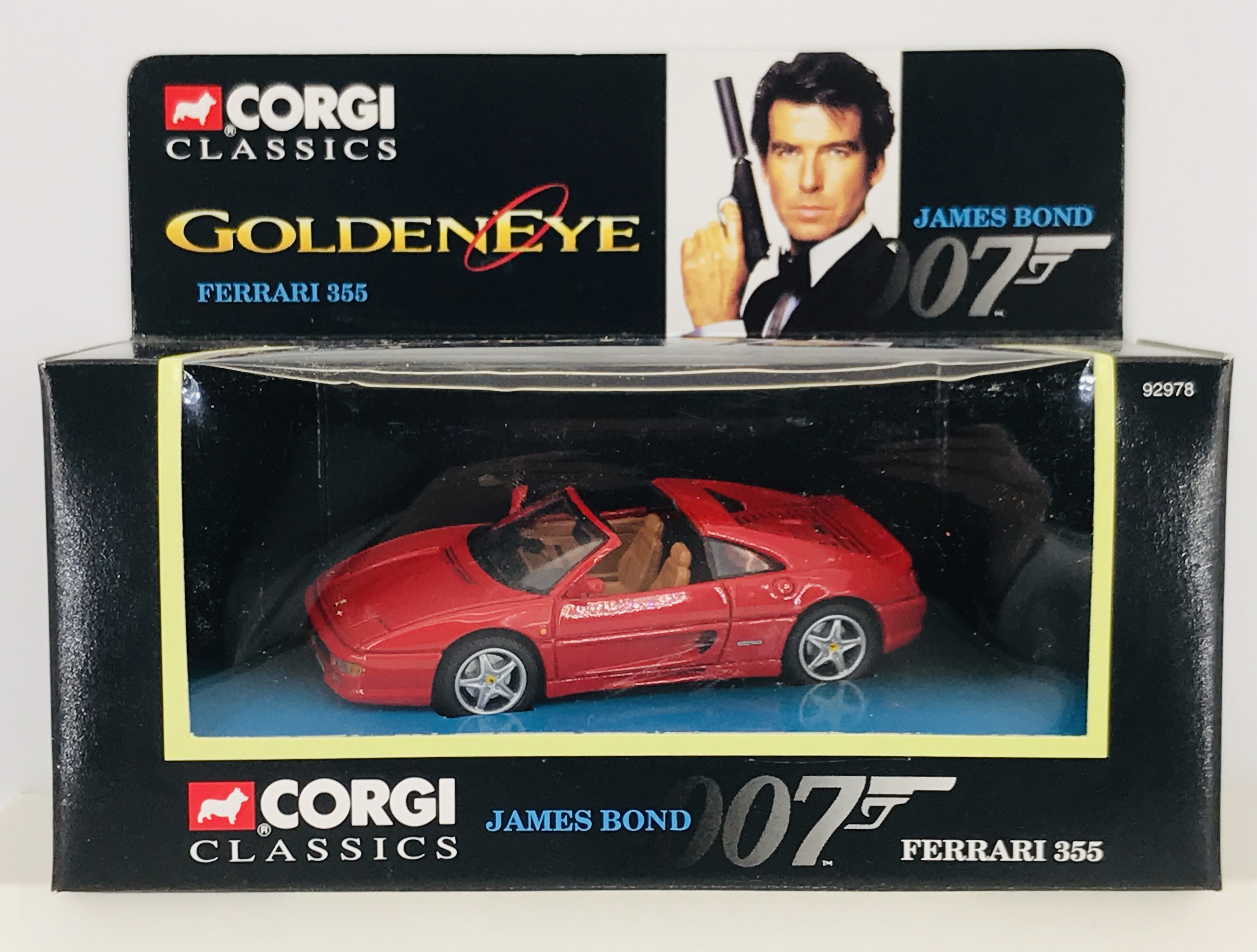 Corgi Classics 92978 James Bond Golden Eye Ferrari 355 Toy Hunter Uk Retro Vintage Toys